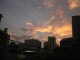 東京の朝焼け