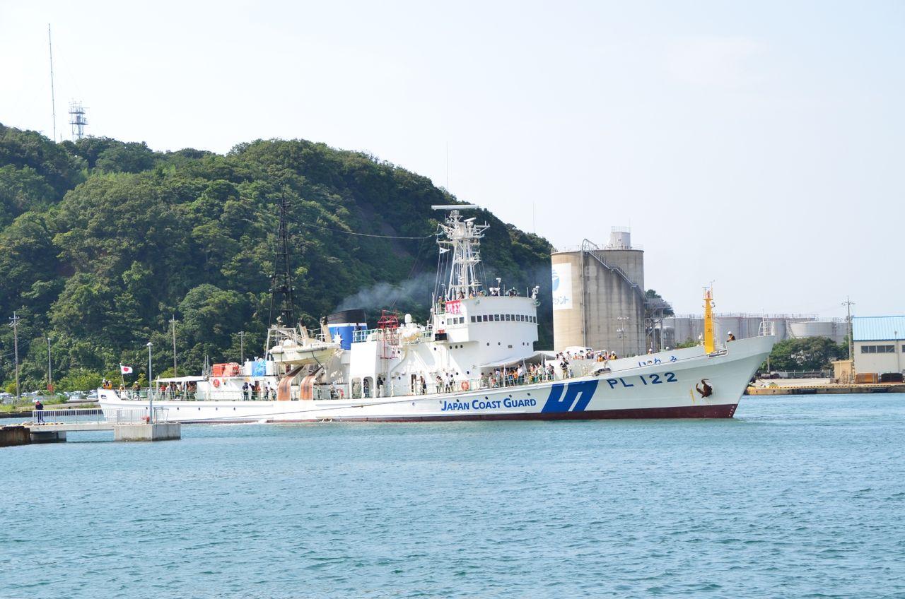 AAA_4232 続く にほんブログ村  巡視船「いわみ」