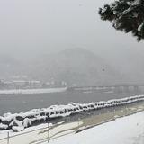 170115雪の嵐山