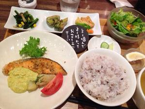 梅田で老舗のオーガニックカフェのメッセージがかわいい
