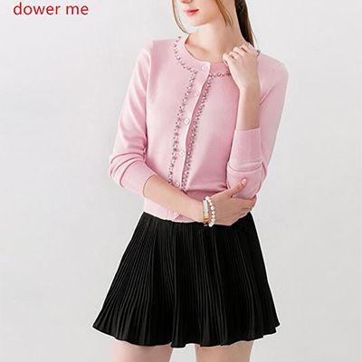 ピンクDower-meピンクセーター女性2017春