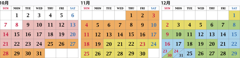 カレンダー10-12