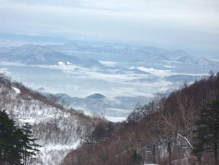 川場スキー場ゲレンデからの景観