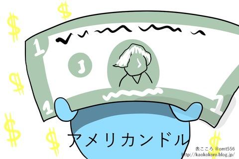 アメリカンドルと日本新紙幣1j