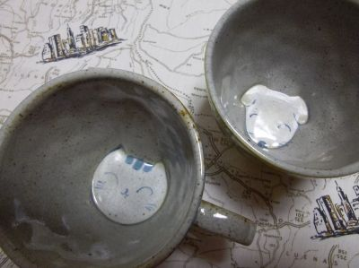 cat & dog cups uchigawa