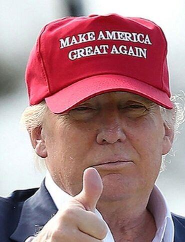 偉大なるアメリカ帽のトランプ