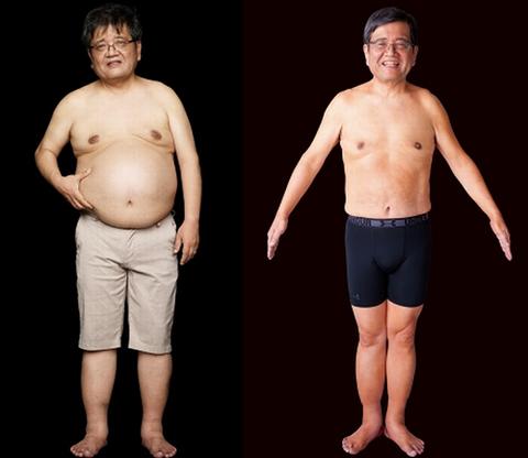 森永卓郎氏のビフォーアフター