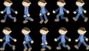 歩く少年イラスト