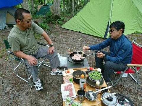 キャンプ場でのひとコマ