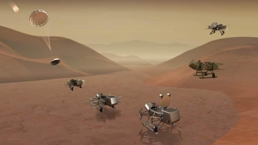 土星の衛星「タイタン」に到着予定のNASAの探査機ドラゴンフライ