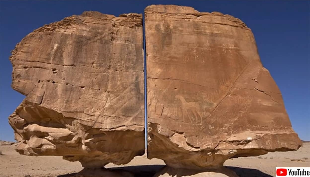 当時の技術では不可能な精度で真っ二つに分断された4000年前の巨石
