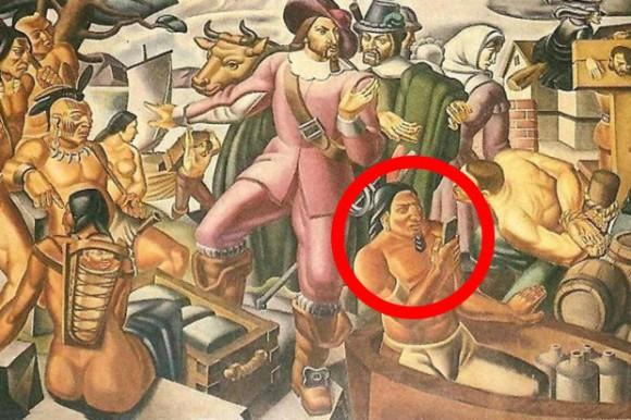 17世紀にスマホ!?タイムトラベラー疑惑。1930年代に描かれたアメリカ植民地時代の絵画にスマホらしきものが