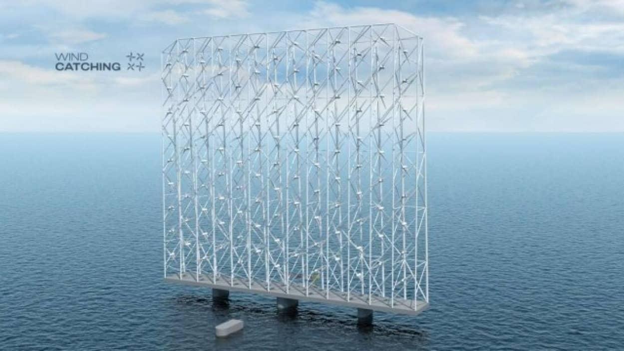 次世代型風力発電機はキネティックアートのよう
