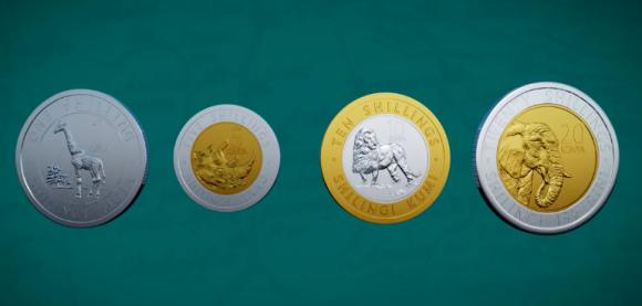 これはコレクションしたい!ケニアが硬貨を一新、4種全てを動物モチーフに変更