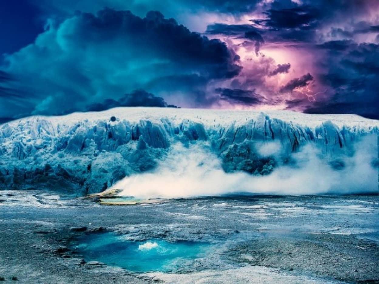 南極に落ちた火星の隕石