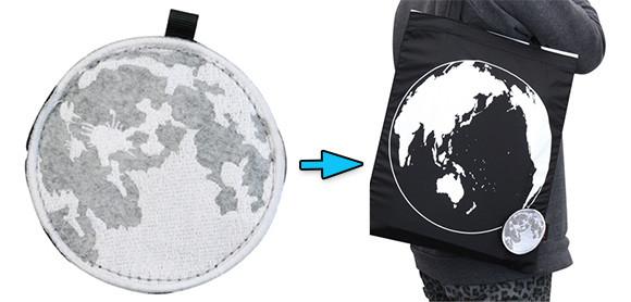 地球と月の大きさの比率をリアルに反映。天体を持ち運んでる気分になれるかもな「ムーン・エコバッグ」がナウオンセール!