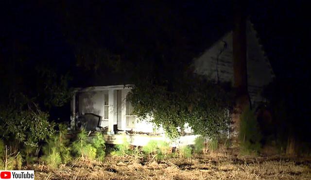 幽霊が出ると噂の廃墟の家を訪れた十代グループ、冷蔵庫の中から腐敗した遺体を発見