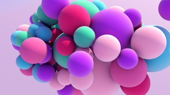錯覚の世界。12個あるカラーボールの色は何色?