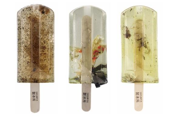 涼しげなアイスキャンディー?どんなフレーバーと思いきや、水質汚染について提起するため、河川の水で作られていた。