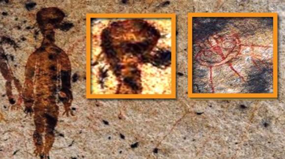 1万年前に描かれた洞窟の壁画は宇宙人なのか?NASAに調査を依頼(インド)