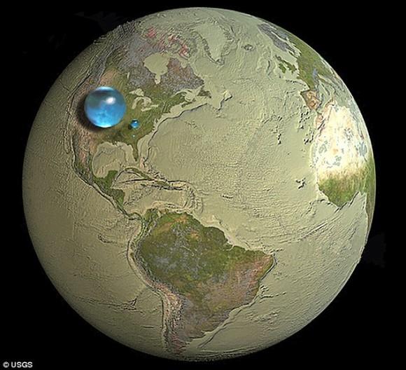 地球は水の惑星って言うけど実際にはこれっぽっち?地球にあるすべての水を一か所に集めた1枚の画像