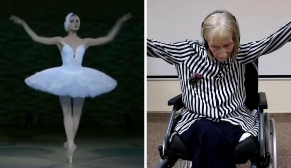 体は覚えていた。アルツハイマー症の元バレリーナ、「白鳥の湖」を聞いて踊りだす(スペイン)