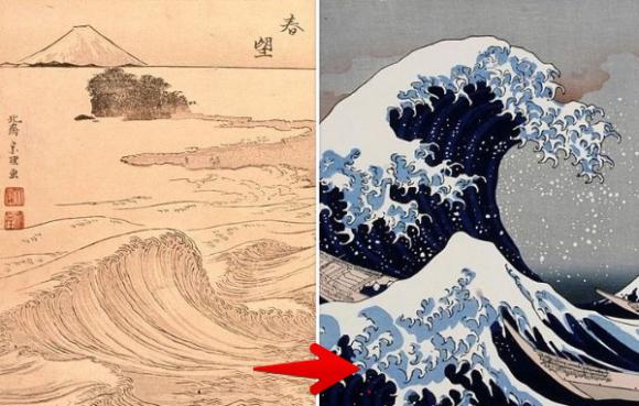 葛飾北斎の波の絵を年代順にならべてみた