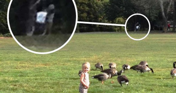 不穏すぎて異口同音。子どもの遊び場で撮影された恐ろしい写真