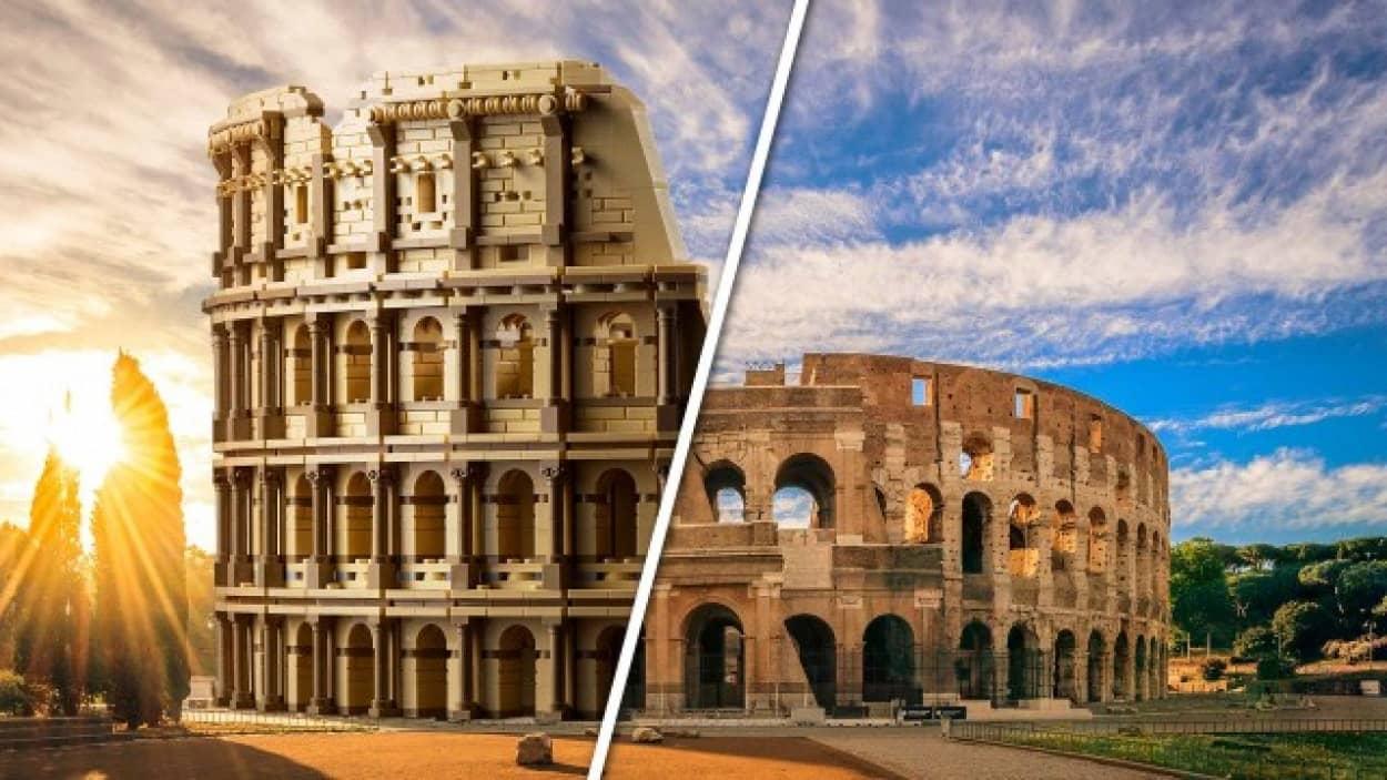 レゴブロック9,036ピースで作るローマのコロッセオ