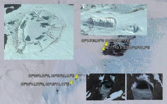 南極に古代遺跡?グーグルアースがとらえた謎の構造体