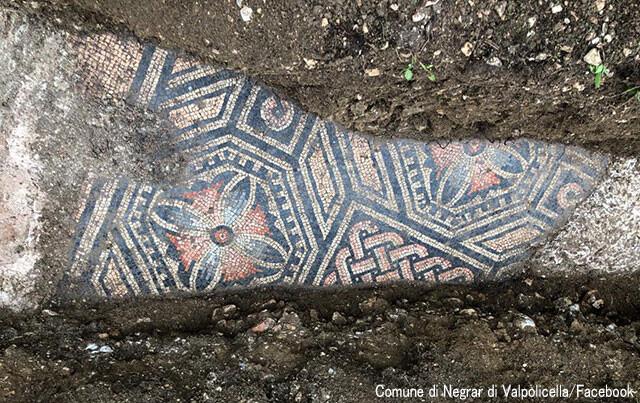 古代ローマ時代のモザイク床