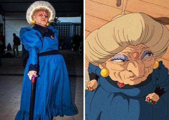 湯婆婆、ソフィー・ハッターなどなど、年相応のコスプレを楽しんだ結果、大人気となったコスプレおばあちゃん(ブラジル)