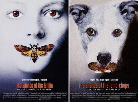 犬好きコラ職人がんばる。有名な映画ポスターに自分の愛犬を仕込んでみた。