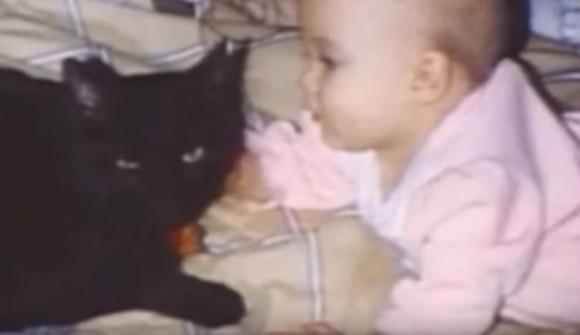 赤ちゃんを亡くしたばかりの夫婦の元に突然現れた黒猫。この黒猫が新たに生まれた赤ちゃんの命を救う(アメリカ)