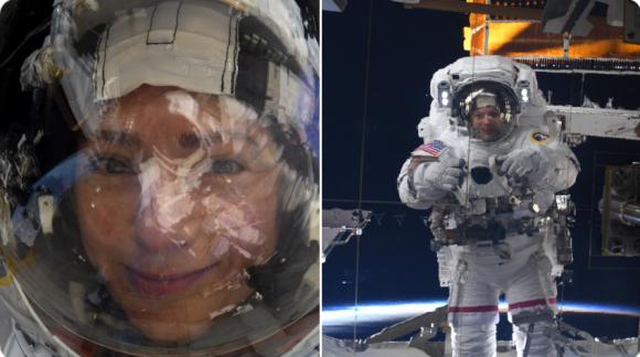 かわいい!スペースステーションの反射を利用した、女性宇宙飛行士の自撮り写真が公開される