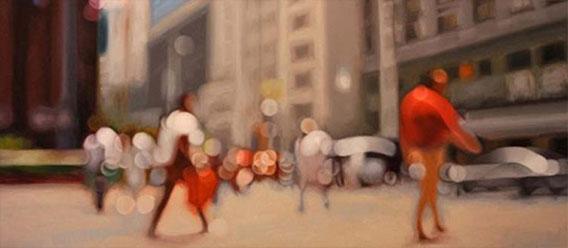 近視の人には世界がこんな風に見えている。を表現したフォトアート作品