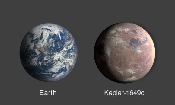 地球と比較したケプラー1649c
