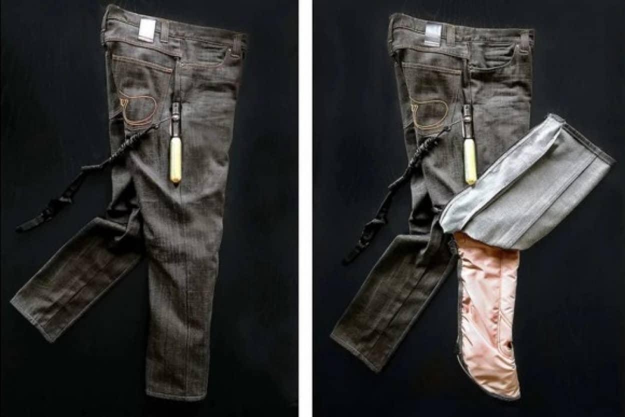 バイカー専用のエアバッグ付きズボン
