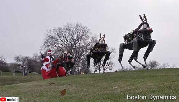 トナカイ失業。サンタはロボットトナカイに乗ってメリークリスマス!