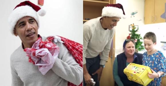 そのサンタは元大統領。オバマ元大統領が子供たちにサプライズ!小児病院でプレゼントを配る(アメリカ)