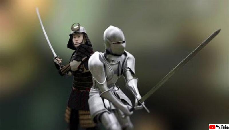 西洋剣VS日本刀