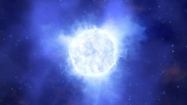 巨大な変光星の消失