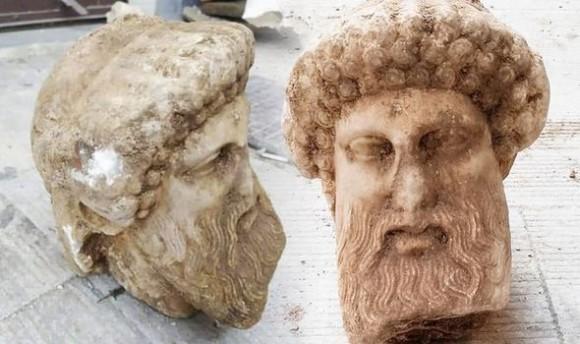 古代ギリシャ、ヘルメス神の頭部が下水道工事で発見される(アテネ)