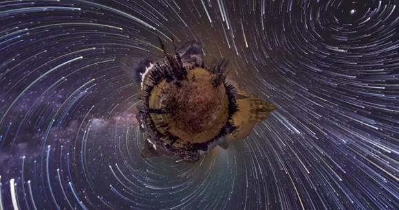 天体を万華鏡に閉じ込めたみたい。360度パノラマビジョンでみるワンダフル・プラネット!