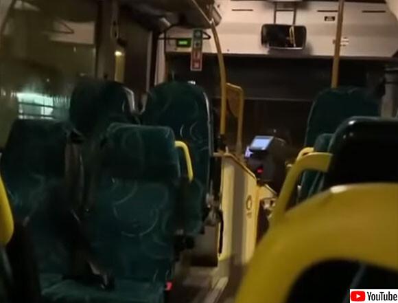 幸福度ランキング上位国の場合、バスの車内で運転手のワンマンショーが始まる(要音声)ノルウェー