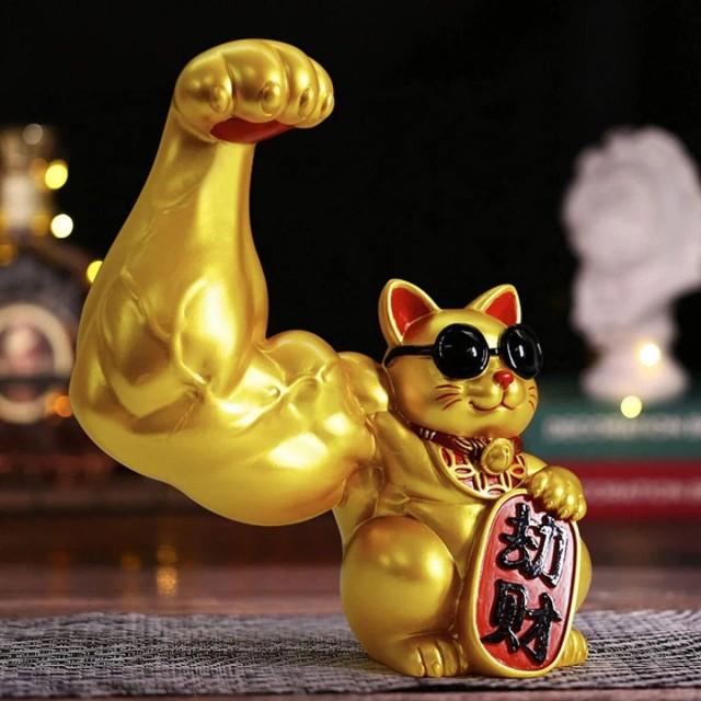 筋肉招き猫で開運アップ