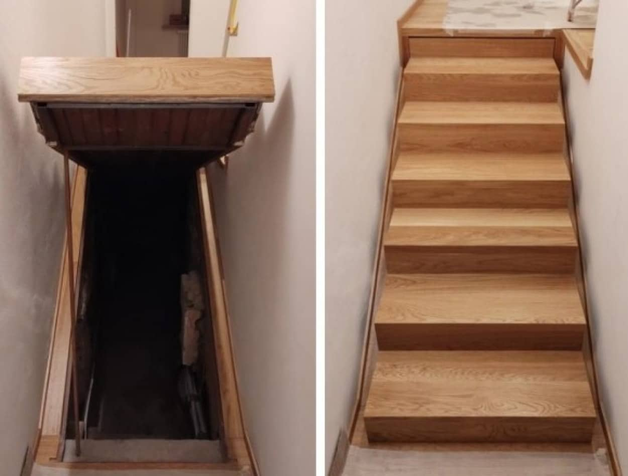 階段の下に隠し部屋が!