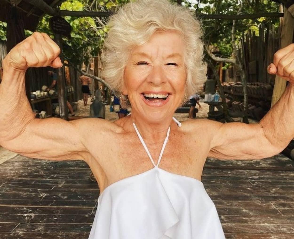 71歳でボディビルディングに目覚めた75歳のパワフルおばあさん