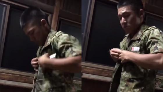 自衛隊営舎における若き自衛隊員たちのどっきり映像