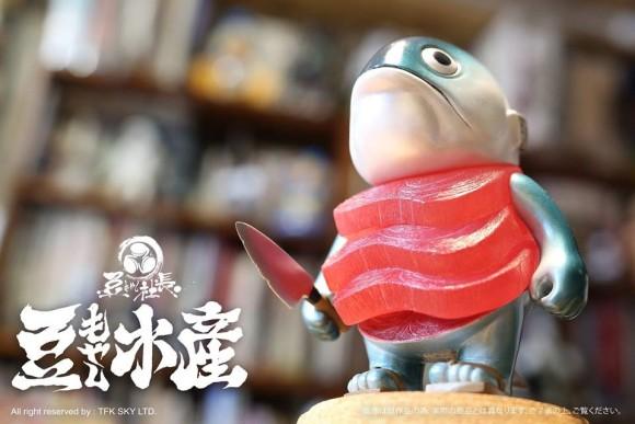 自ら包丁を持ち刺身となった魚フィギュア「マグロ先輩」が予約販売中